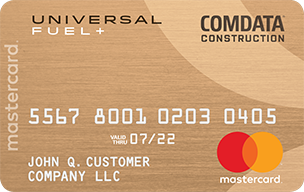 Comdata Construction Mastercard® Business Gas Card Details