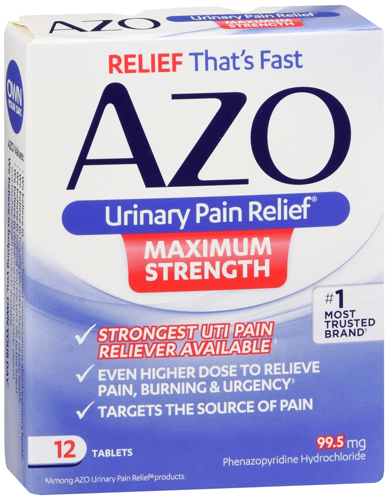 AZO Urinary Pain Relief Tablets Maximum Strength