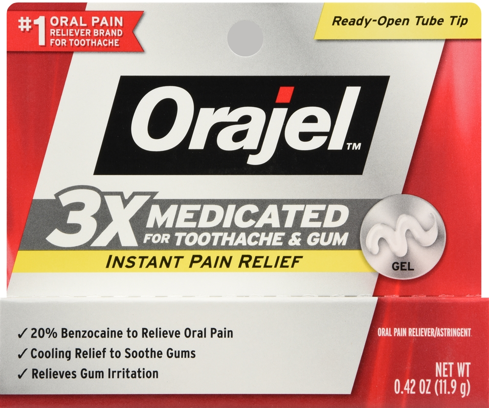 Orajel 3X Medicated for Toothache & Gum Gel
