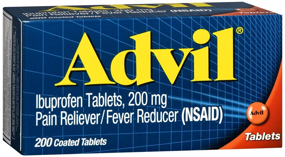 Advil Coated Tablets, Ibuprofen 200mg (200 count)