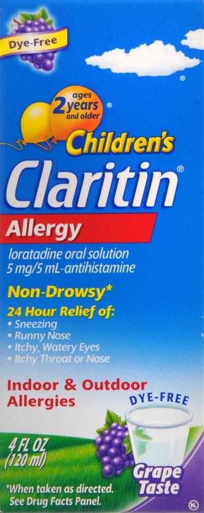 Claritin Children's Allergy Non-Drowsy Oral Solution Grape