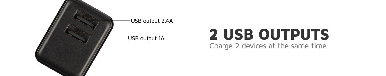 2x USB outputs