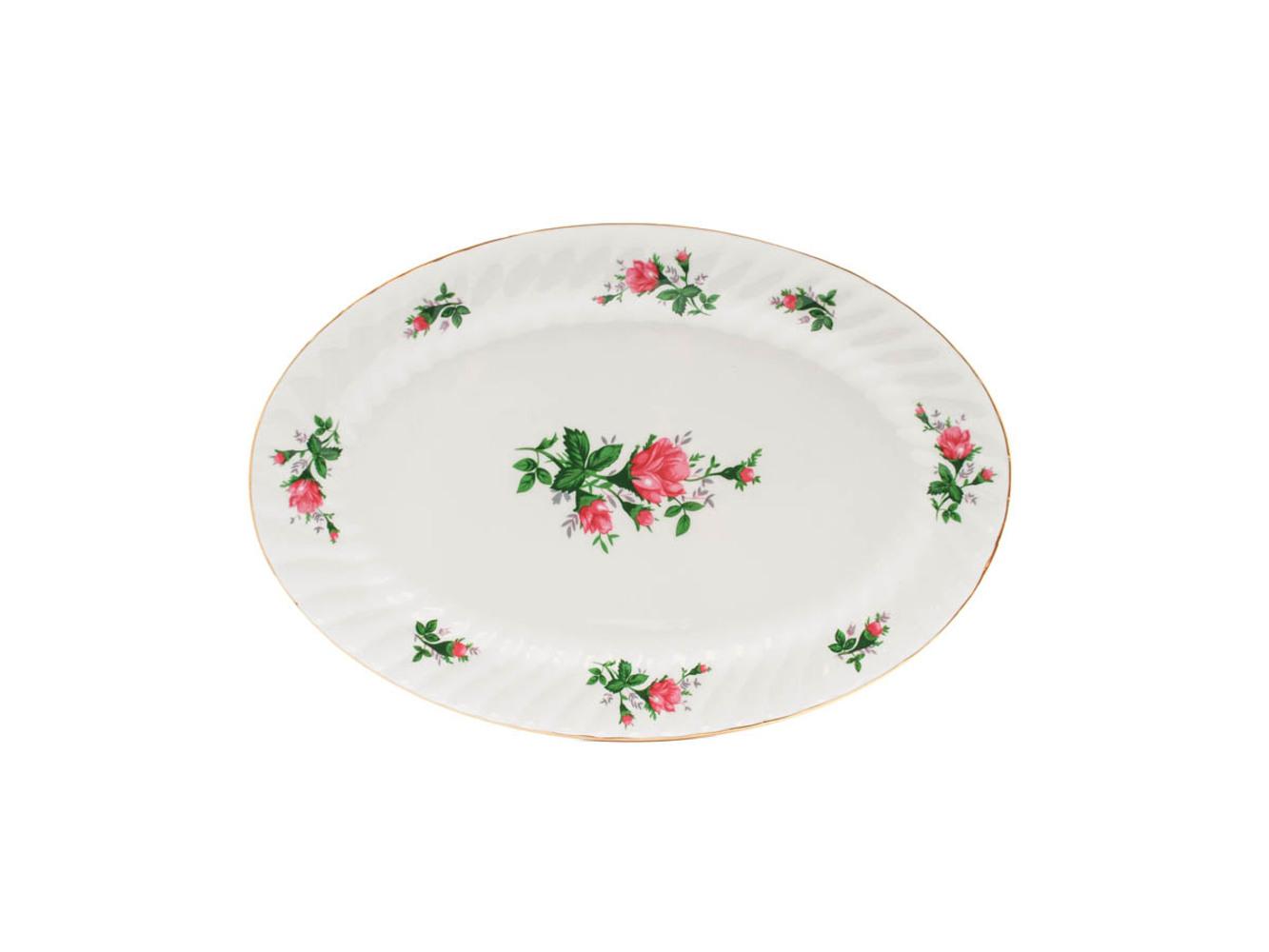 """Vintage Rose 14"""" Oval Platter"""