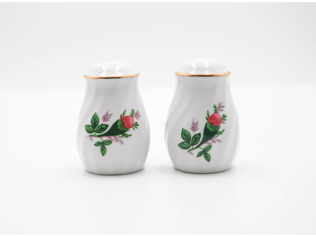 Vintage Rose Set of 2 Salt & Pepper