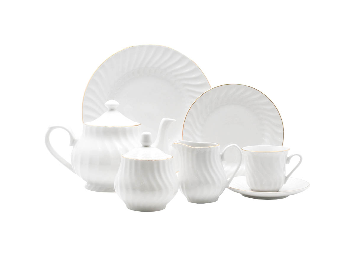 Imperial Gold 23-Piece Tea Set