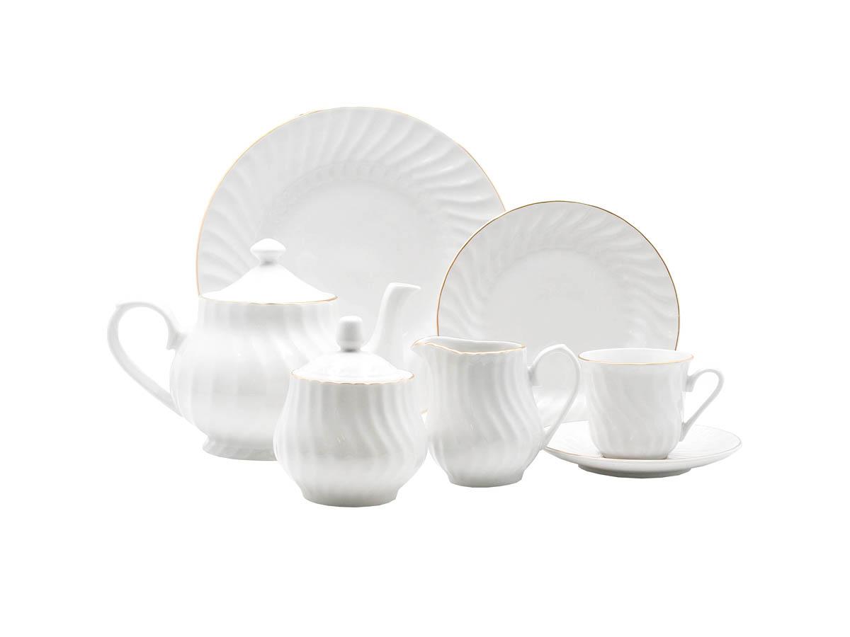 Imperial Gold 23-Piece Tea Set