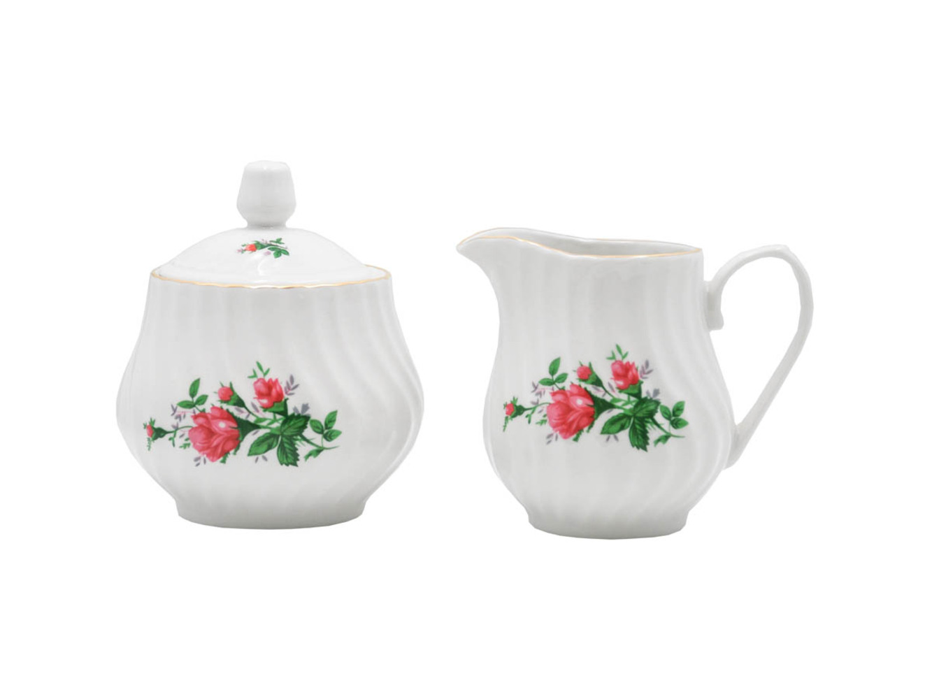 Vintage Rose Set of 2 Sugar & Creamer