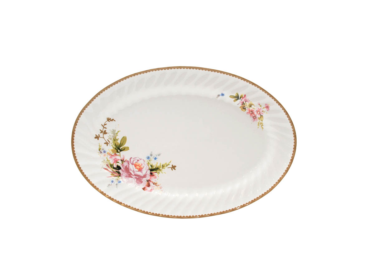 "Timeless Rose 14"" Oval Platter"