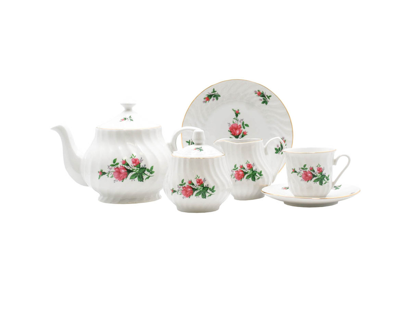 Vintage Rose 23-Piece Tea Set
