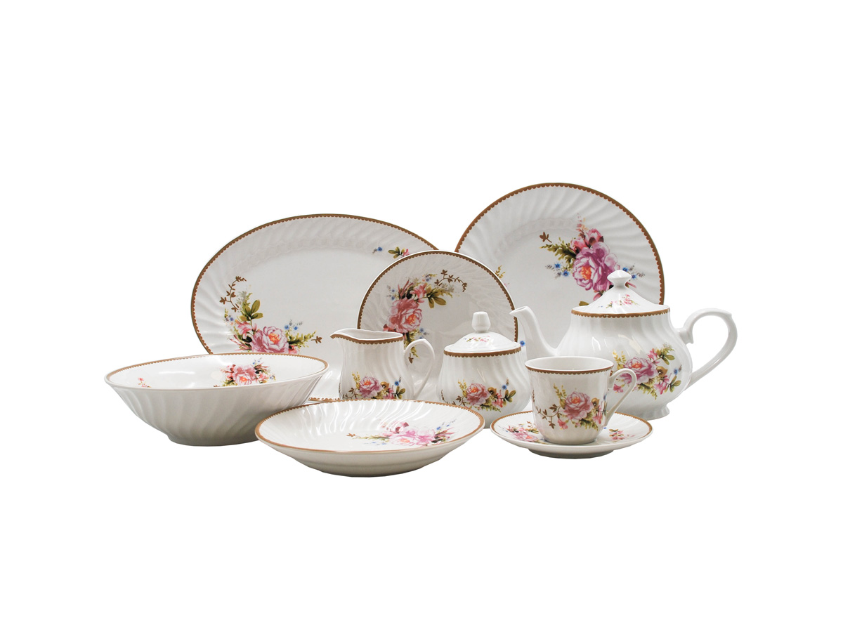 Timeless Rose 45pc Dinner Set