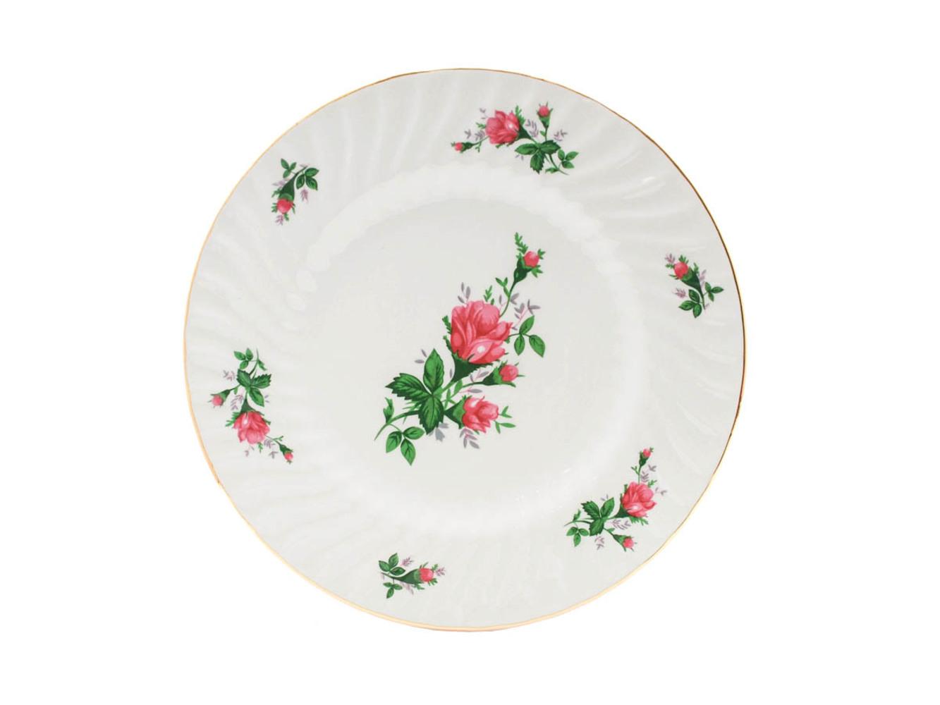 """Vintage Rose 10.5"""" Dinner Plate"""