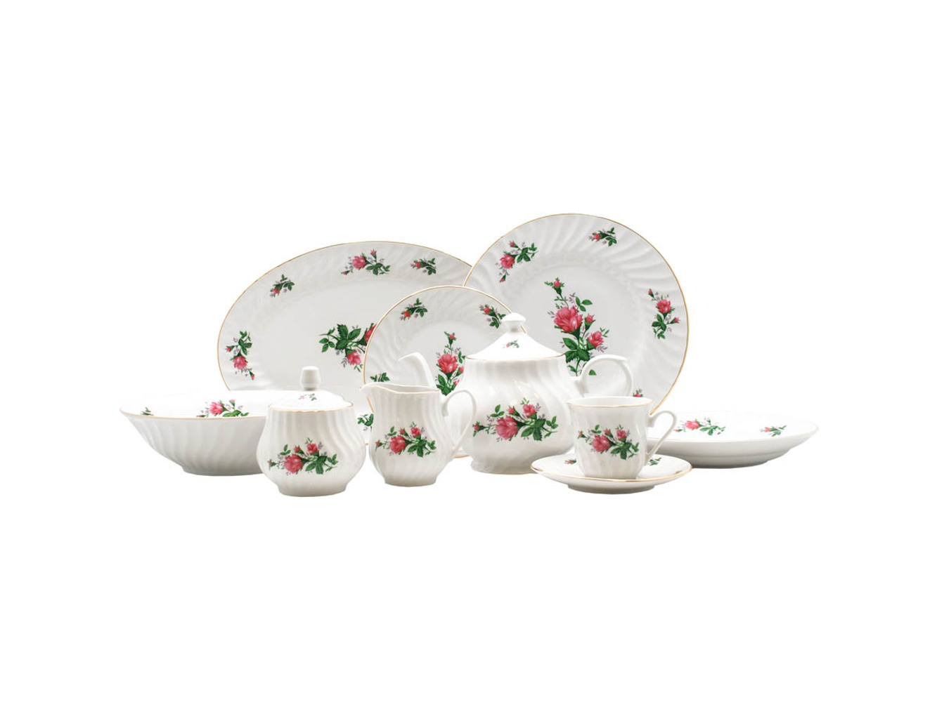 Vintage Rose 45pc Dinner Set