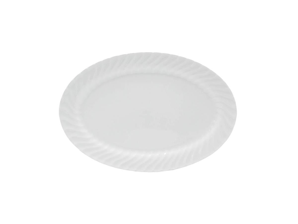 "Imperial White 14"" Oval Platter"