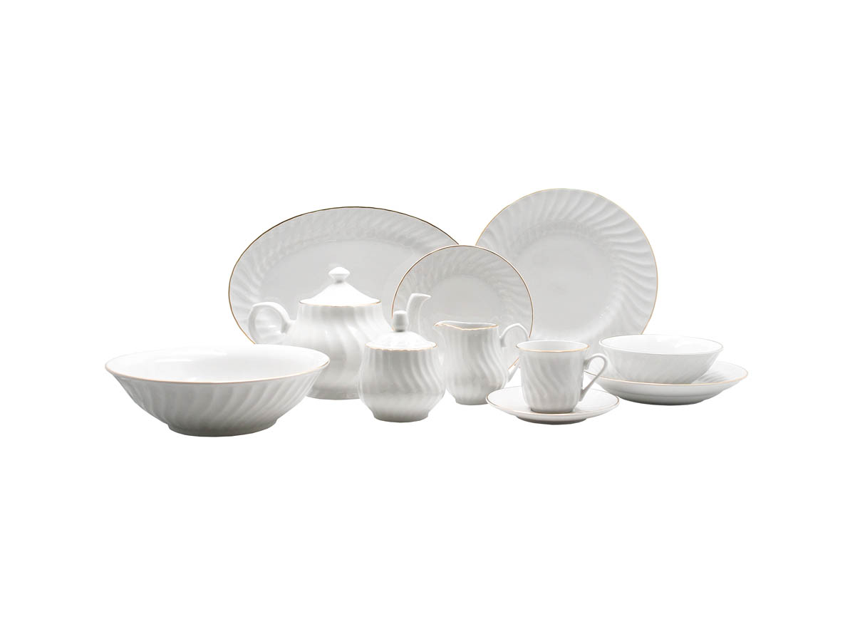 Imperial Gold 45pc Dinner Set