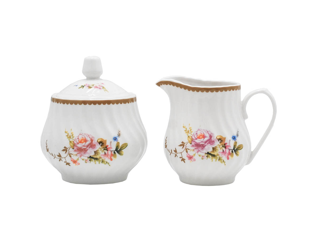 Timeless Rose Set of 2 Sugar & Creamer