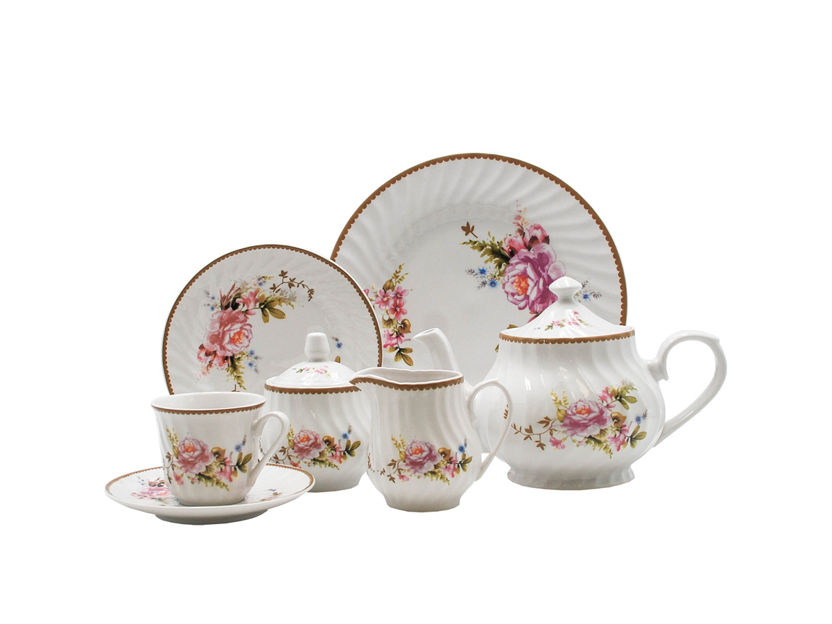 Timeless Rose 23-Piece Tea Set