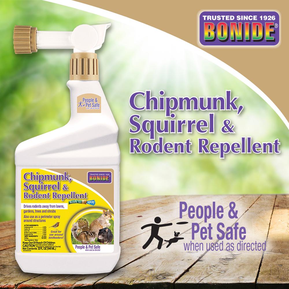 Chipmunk, Squirrel & Rodent Repellent RTS