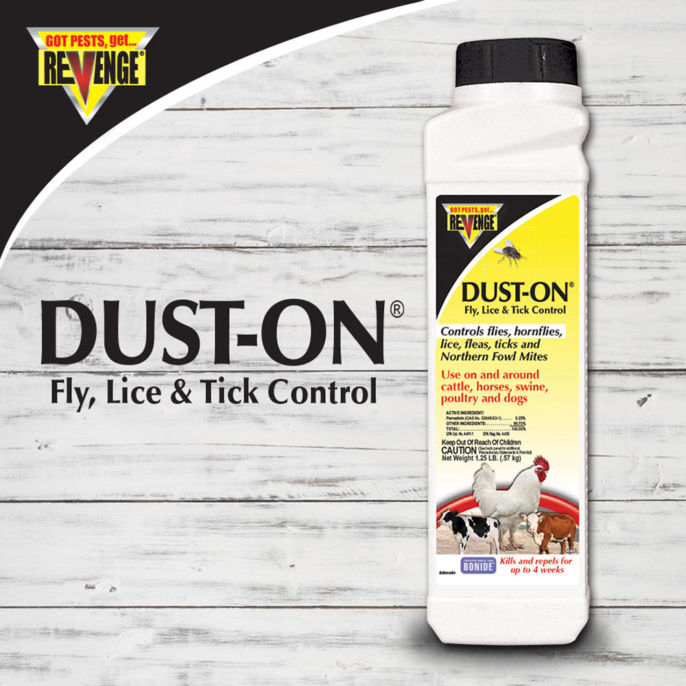 REVENGE® Dust On® Fly & Lice Control Dust